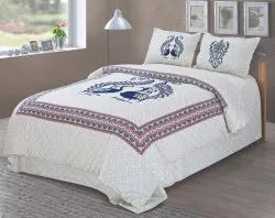Peacock Print Bedsheet for Double Bed