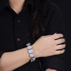 Rough Rose Quartz Druzy Women Bracelet