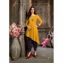 Casual Wear Straight Ladies Asymmetrical Rayon Kurti, Machine Wash