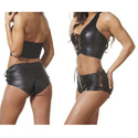 Ladies Designer Leather Shorts