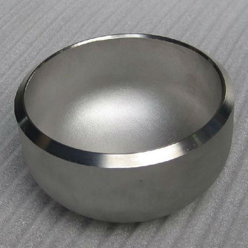 Silver Stainless Steel Cap Fitting 304L, for Chemical Fertilizer Pipe, Packaging Type: Standard