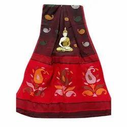 Baluchari Cotton Saree, Length: 5.5 m (Separate Blouse Piece)
