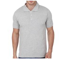 Cotton Plain Collar T Shirt