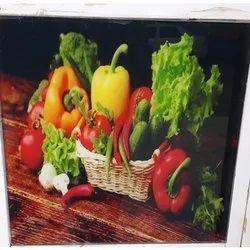 Vegetable Design Printed Glass