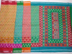 Ladies Chanderi Silk Plain Saree