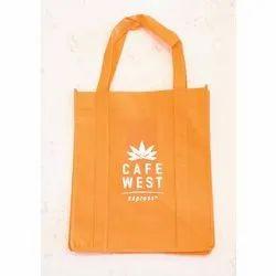 Orange Printed Cloth Bag