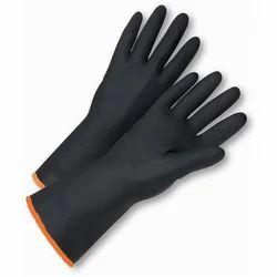 Heat Resistant PVC Heavy Duty Gloves, Size: Small, Medium & Large
