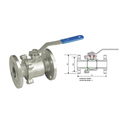 Carbon Steel 2 Piece Flanged End Ball Valve, For Industrial, 4