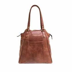 Leather Rustic Brown Large Ladies Tote Bag