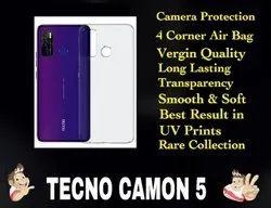 Silicon Tecno Camon 5 Transparent Mobile Back Cover