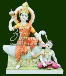 Marble Baglamukhi  Statue