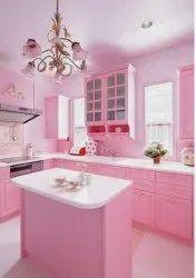 Wooden L Shape Modular Kitchen Designing, Warranty: 5-10 Years