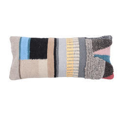 Decorative Multi Colored Wool Cotton Pillow Cover