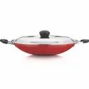 Aluminium Red And Black Veronica Appachatty With Ss Lid, For Home, Size: 2.6 Mm