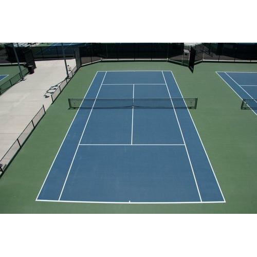 Synthetic Outdoor Tennis Court Flooring Service, Thickness