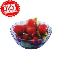 Blue And Green Plastic Fruit Bowl