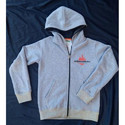 Grey Full Sleeves Kids Hoodie