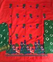 Kutchi Embroidery Work Cotton Dress Material