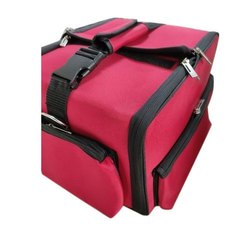 Red Polyester Vanity Bag