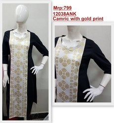 Camric Kurta With Gold Print