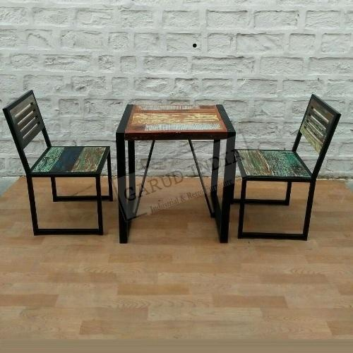 Wooden 2 Seater Cafe Table Set Size 2 X 2 Feet Id 19622188830