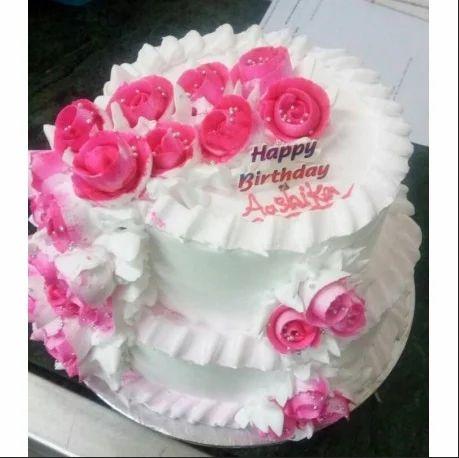 Pineapple Roses 2 Tier Cake