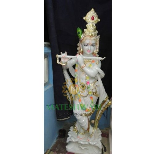 White Marble Krishna Idol