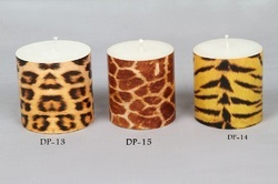Animal Skin Pattern Pillar Candle (Tiger)