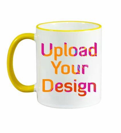 Make Your Own Rim Handle Yellow Mug