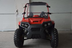 200cc Red Utility Terrain Vehicle