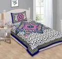 Printed Cotton Bedsheet for Single Bed