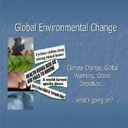 Global Environmental Change  PhD Thesis Writing Services Consultancy