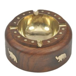 Wooden Brown Ashtray