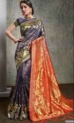 Party wear designer Banarsi silk saree