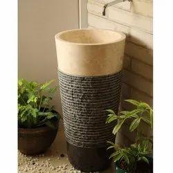 Ermor Stone Pedestal Wash Basin, Model No.: ESW136, ESW137