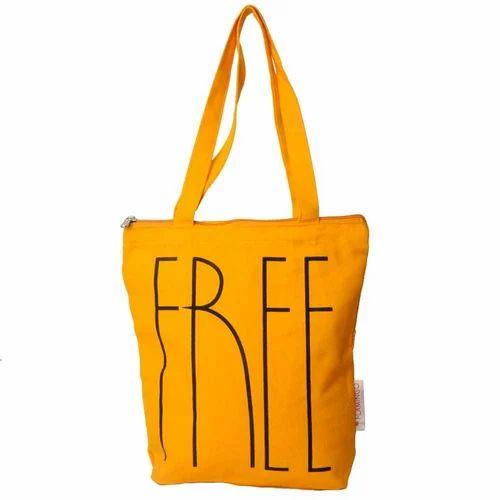 a5d567d9a Printed Orange Canvas Carry Bag, Rs 55 /piece, Flamingo India | ID ...