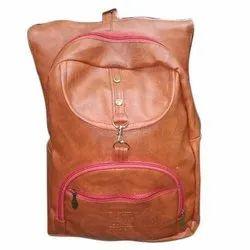 Leather Plain Girls College Bag