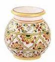 Round Marble Flower Pot