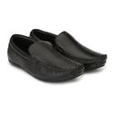 Leather Black Loafer Shoes