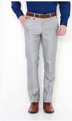 Van Heusen Grey Trousers For Men