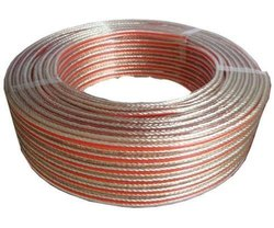 Audio Acoustics Shielding Type: Un-Shielded Oxygen Free Copper Transparent Speaker Cable, Cable Size: 1sqmm