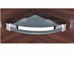 Fallon Bath Silver Bathroom Shelf, Packaging Type: Box
