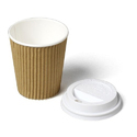 Hot Drink 8oz (250ml) Kraft Ripple Paper Cups