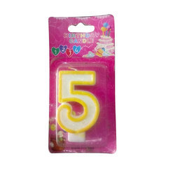 5 Shape Birthday Number Candle