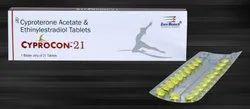 Ethinyl Estradiol 0.035 & Cyproterone Acetate 2 mg