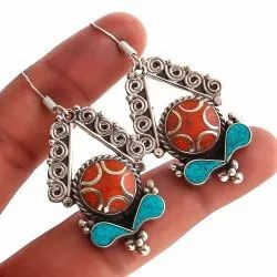 Nimbarkgems&jewelry silverplated Ladies Silver Earring