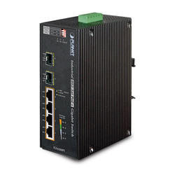 DIN-rail Unmanaged Gigabit PoE Switch IGS-624HPT