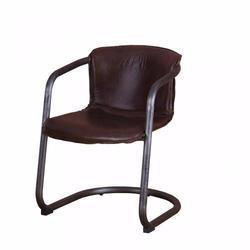 Brown Leather Dining Chair, For Hotel