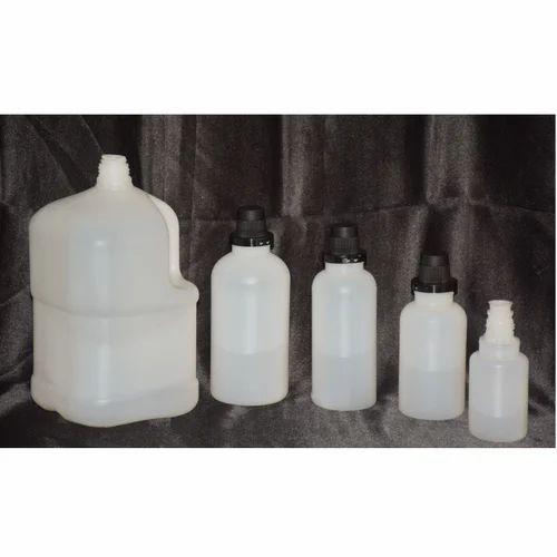 Plastic White Acid Packaging Bottles