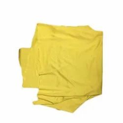 Plain Yellow Lycra Fabric, Gsm: 100